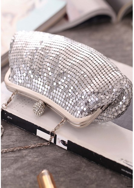 Fashion Pleated Aluminum Silver Sequin Banquet Bags T901556173270