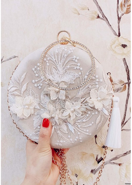 New Fringed Embroidery Round Clutches T901556239230
