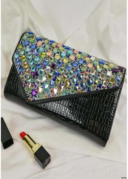 Fashion Large Capacity Rhinestones Handbags T901556092547