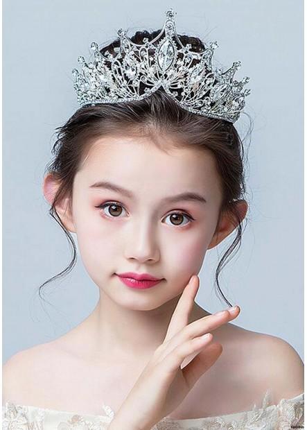 White Crystal Pearl Tiaras T901556681670