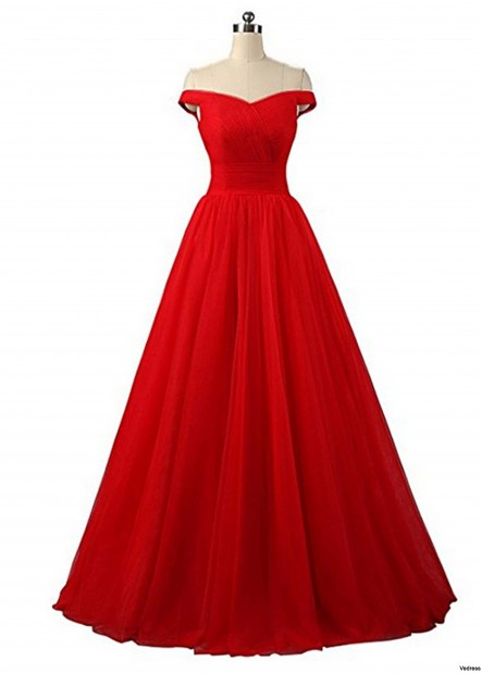 One Shoulder Wedding Gown Evening Dresses T901553588953