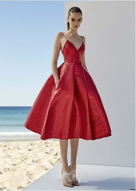 Hanging Red Evening Dress T901553587272