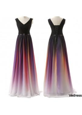 2021 Double Shoulder Strap Coloured Evening Dress T901553676430