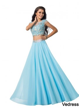 Vedress Two Piece Long Prom Dress T801524705566