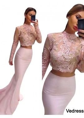 Vedress Two Piece Long Prom Evening Dress T801524704099