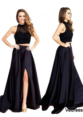 Vedress Two Piece Long Prom Evening Dress T801524704096