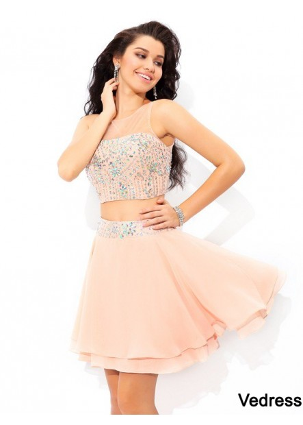 Vedress Sexy 2 Piece Short Homecoming Prom Evening Dress T801524710262