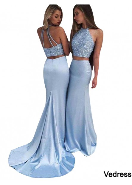 Vedress Two Piece Long Prom Evening Dress T801524703888