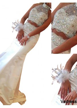 Vedress Two Piece Long Mermaid Long Prom Evening Dress T801524703936