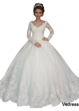 Vedress 2020 Long Sleeve Winter Ball Gowns With Sleeves UK