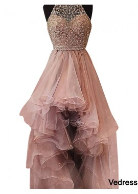 Vedress High Low Long Prom Evening Dress T801524703853