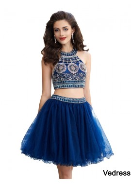 Vedress Sparkly Short 2 Piece Prom Evening Dress T801524705538