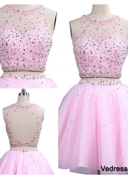 Vedress Cute Short 2 Piece Prom Evening Dress T801524705040