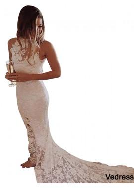 Vedress 2021 Beach Lace Wedding Dresses T801524714809