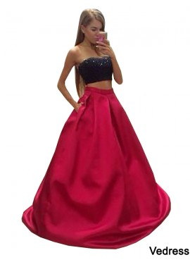 Vedress Two Piece Long Prom Evening Dress T801524705250