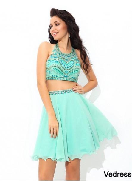Vedress 2 Piece Short Homecoming Prom Evening Dress T801524710708