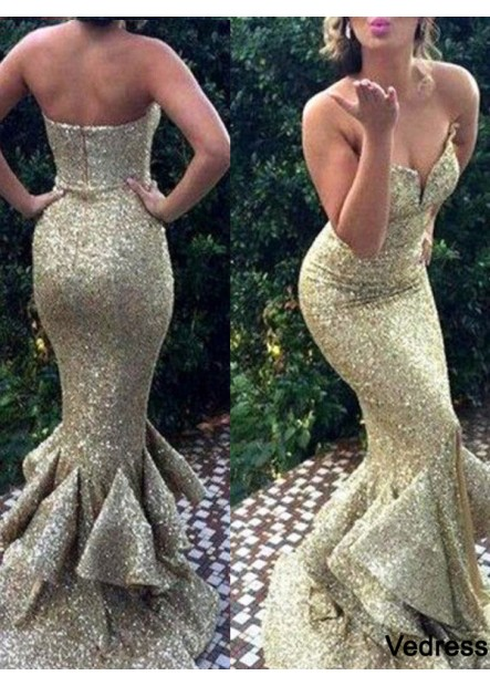 Vedress Mermaid Long Prom Dress T801524704015