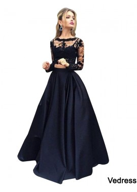 Vedress Lace Black Long Prom Evening Dress T801524703566