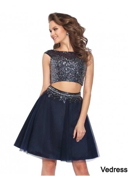 Vedress 2 Piece Short Homecoming Prom Evening Dress T801524706611
