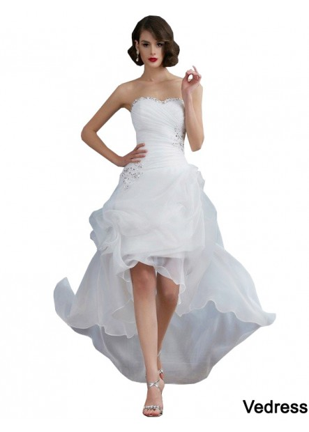 Vedress 2021 Beach Short Wedding Dresses T801524715033