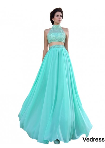 Vedress Two Piece Long Prom Dress T801524706824