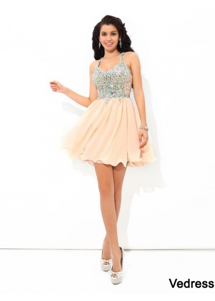 Vedress Sexy Short Homecoming Prom Evening Dress T801524710175