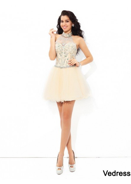 Vedress Sexy Short Homecoming Prom Evening Dress T801524709731