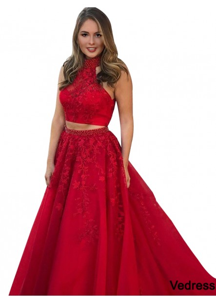 Vedress Two Piece Long Prom Evening Dress T801524703934