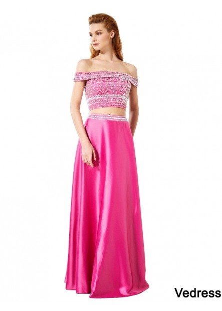 Vedress Two Piece Long Prom Evening Dress T801524708594