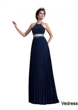 Vedress Two Piece Long Prom Dress T801524707486
