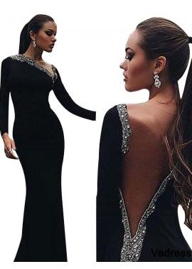 Vedress Black Mermaid Long Evening Dress T801524703948