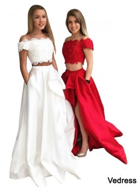 Vedress Two Piece Long Prom Evening Dress T801524703851