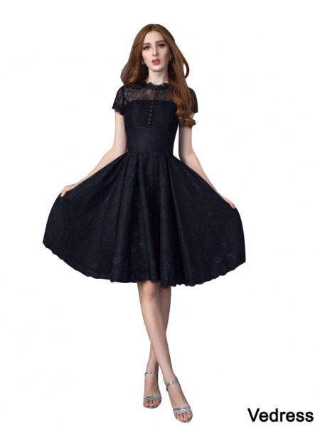 Vedress Sexy Black Short Prom Gown T801524705336