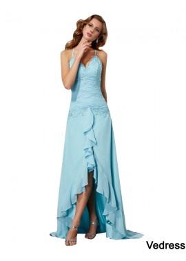 Vedress High Low Long Prom Evening Dress T801524706723