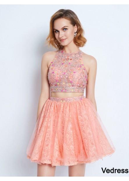 Vedress 2 Piece Short Homecoming Prom Evening Dress T801524710797