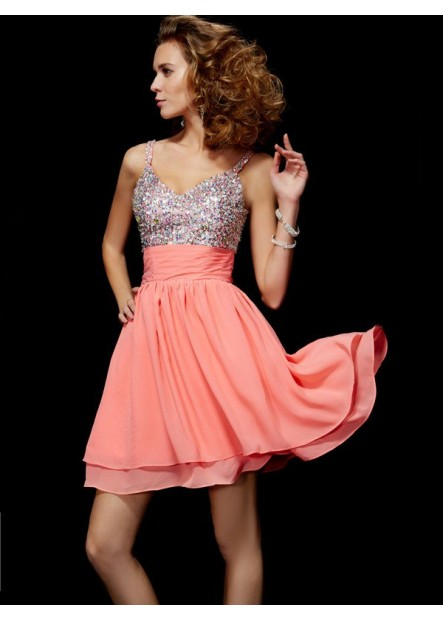 Vedress Short Homecoming Prom Evening Dress T801524710660