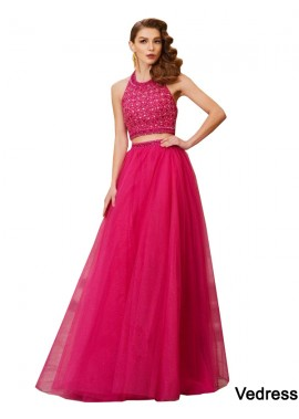 Vedress Two Piece Long Prom Evening Dress T801524708257
