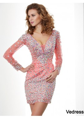 Vedress Short Homecoming Prom Evening Dress T801524710574
