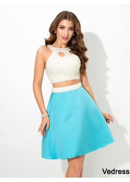Vedress Junior 2 Piece Short Homecoming Prom Evening Dress T801524707368