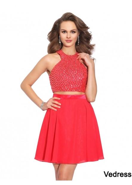 Vedress 2 Piece Short Homecoming Prom Dress T801524707037