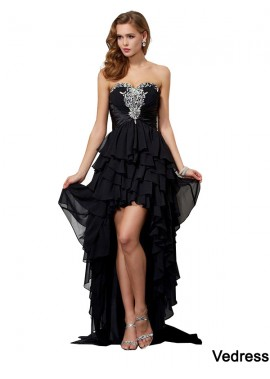 Vedress High Low Long Prom Evening Dress T801524705881