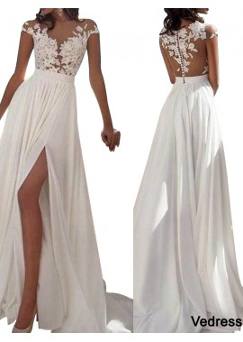 Vedress White Summer Beach Simple Wedding / Evening Dresses