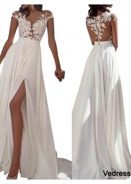 Vedress White Summer Beach Simple Wedding / Evening Dresses