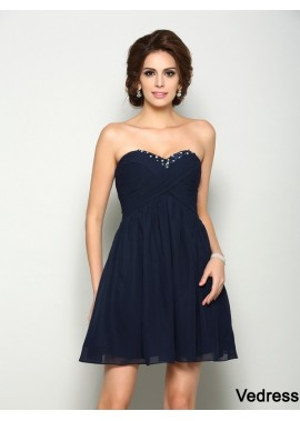 Vedress Short Homecoming Prom Evening Dress T801524710899