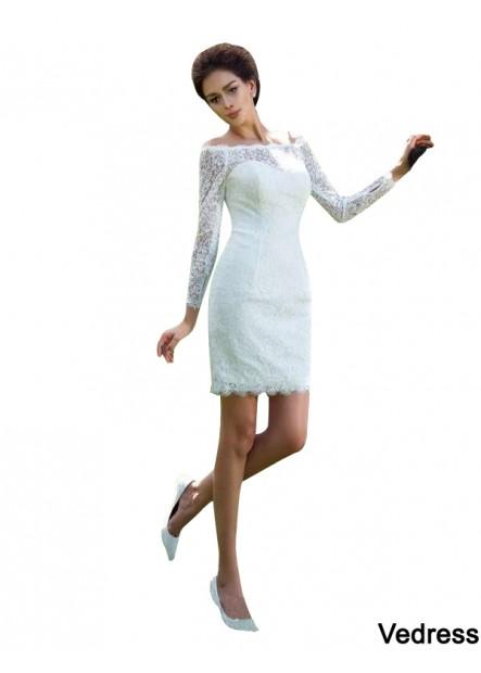 Vedress 2021 Short Wedding Dress T801524715343