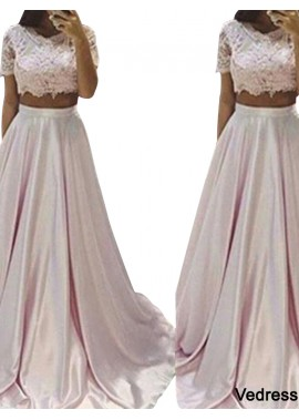 Vedress Two Piece Long Prom Evening Dress T801524705463