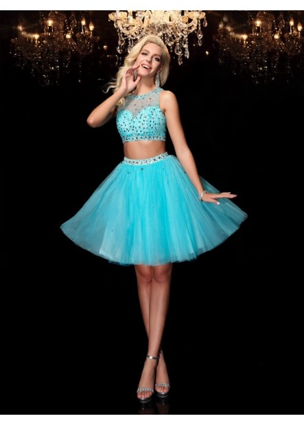 Vedress Sexy 2 Piece Short Homecoming Prom Evening Dress T801524710594