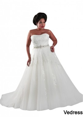 Vedress Plus Size Wedding Dress T801525325517