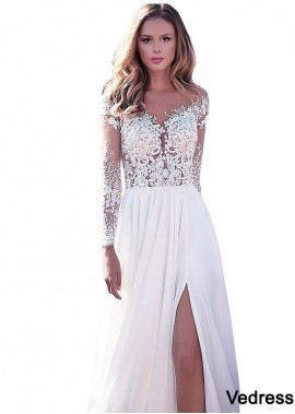 2021 Unusual Blush Cheap Beach Long Sleeve Wedding Dresses