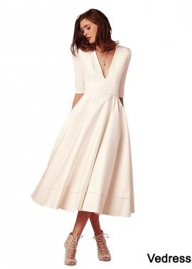 Vedress Cheap Tea Length Beach Wedding Dresses